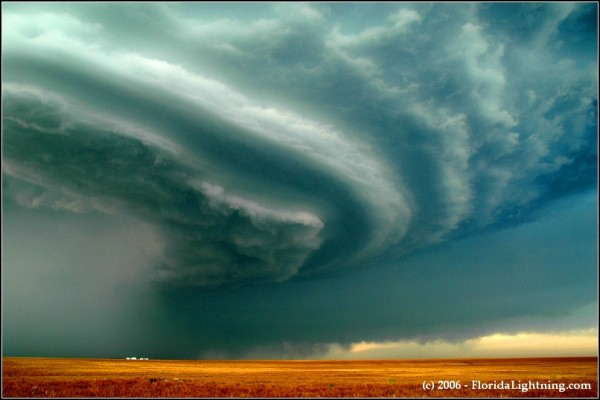 Supercell storm in Colorado