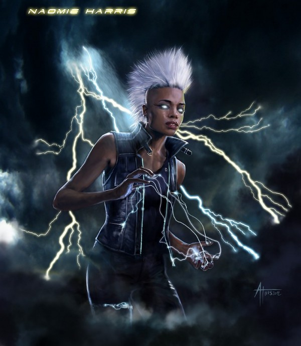 Image credit: Alex Tuis, via http://a.tuis.free.fr/SuperHero.html, of Naomie Harris as Storm.