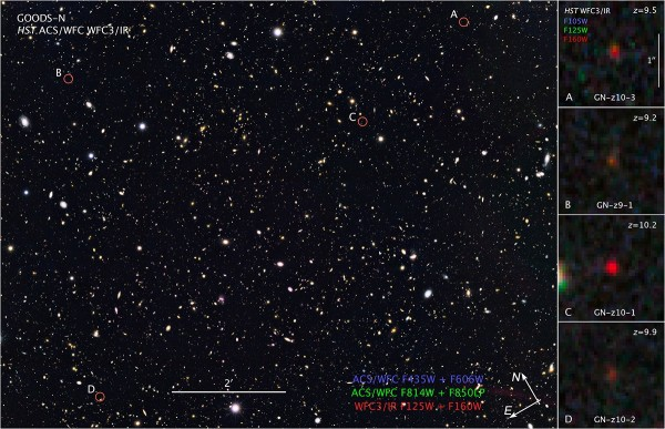 Image credit: NASA, ESA, and Z. Levay (STScI). The GOODS-North survey, shown here, contains some of the most distant galaxies ever observed, a great many of which are already unreachable by us.