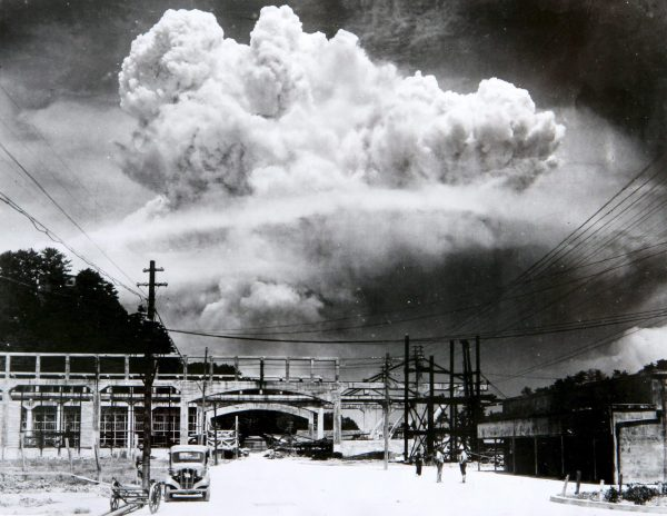 The cloud from the atomic bomb over Nagasaki from Koyagi-jima in 1945 was one of the first nuclear detonations to take place on this world. After decades of peace, North Korea is detonating bombs again. Credit: Hiromichi Matsuda.